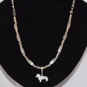 Necklace with silver Dachshund pendent
