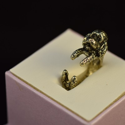 Poodle Ring Antique Bronze