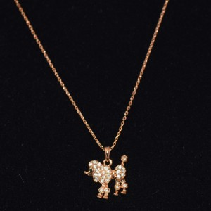 Poodle necklace gold plated